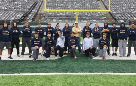 Football team visits MetLife stadium in anticipation of Saturday's game