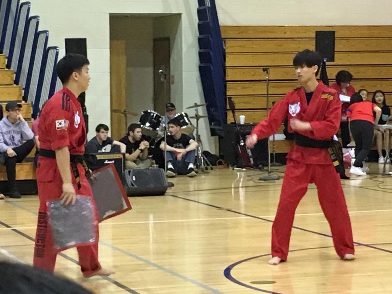 At Diversity Day, students demonstrated their taekwondo skills.