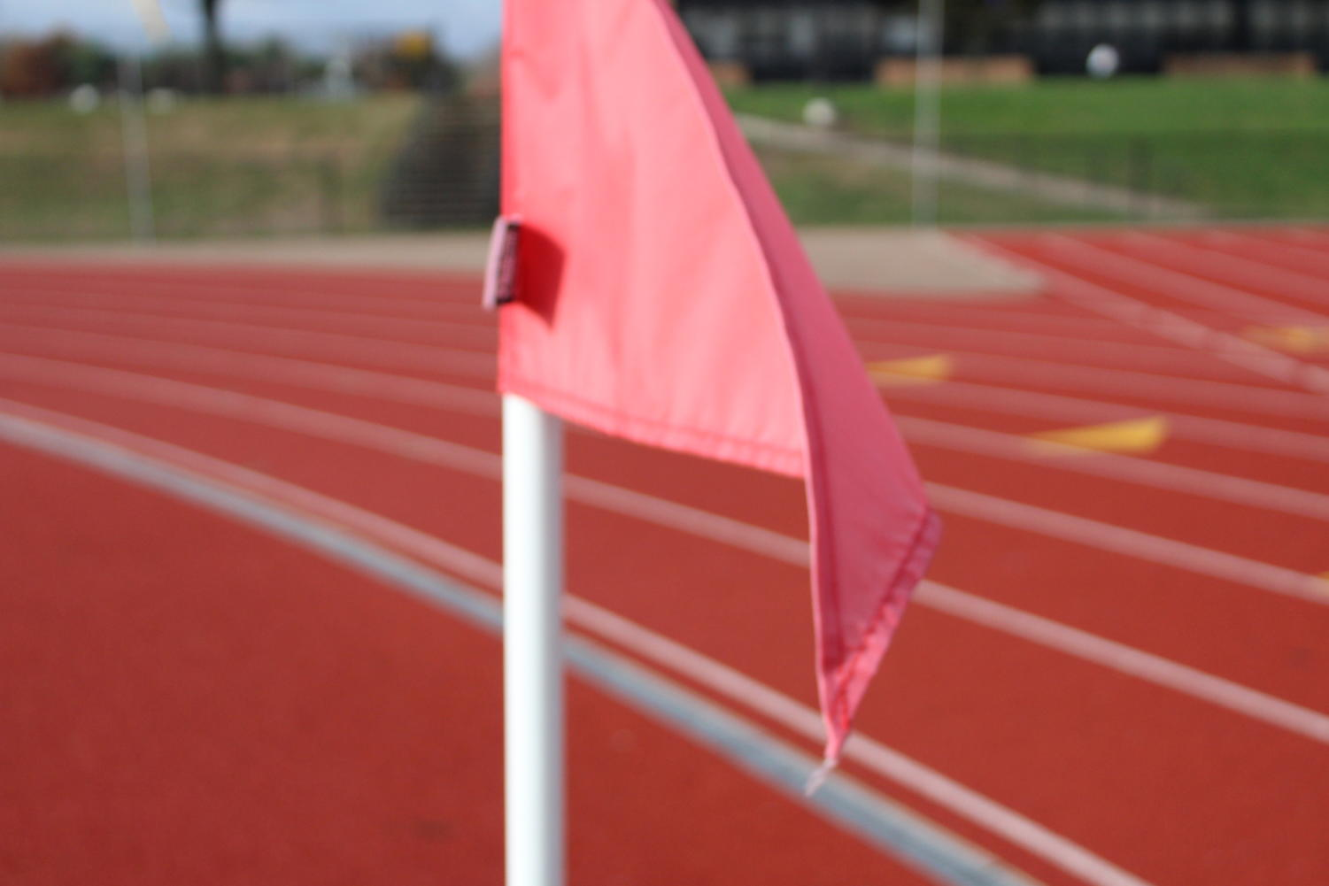 The red flag on the track