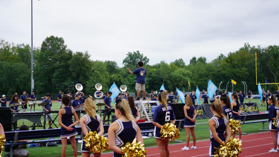 Cheerleaders and Marching Band