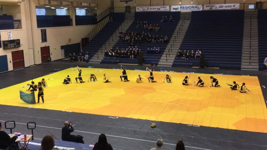 Winter+Guard+performing+at+the+WGI+Regional+competition