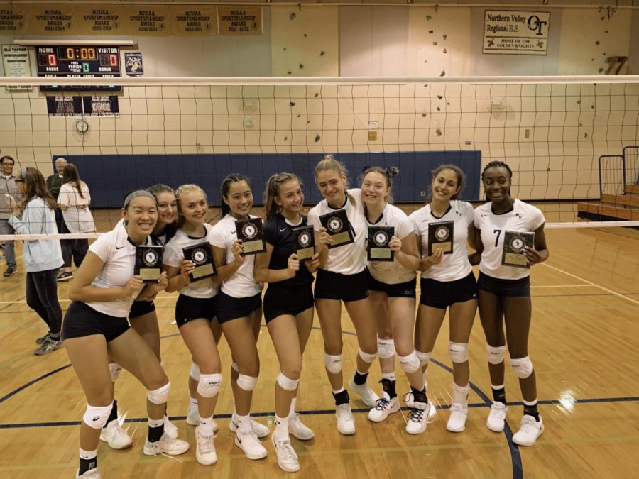Volleyball+team+celebrates+County+Championship+victory