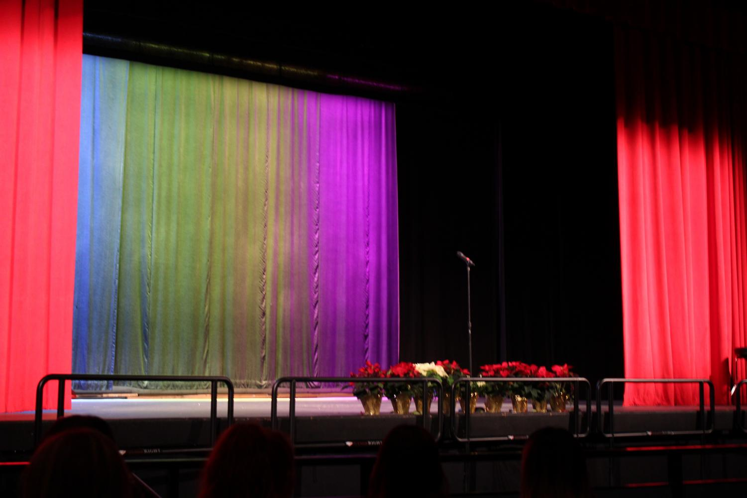 The Poetry Out Loud stage before the event.