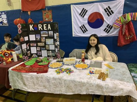 "Hannah Jung, 11th grade, Korea: ""Our traditional clothing is unique—people might not know that because they are not worn regularly, it's only worn on special holidays and marriage."""