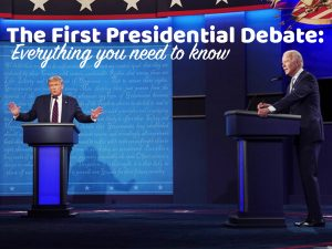 Trump and Biden in a heated debate on Tuesday night.