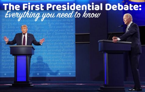Trump and Biden in a heated debate on Tuesday night.