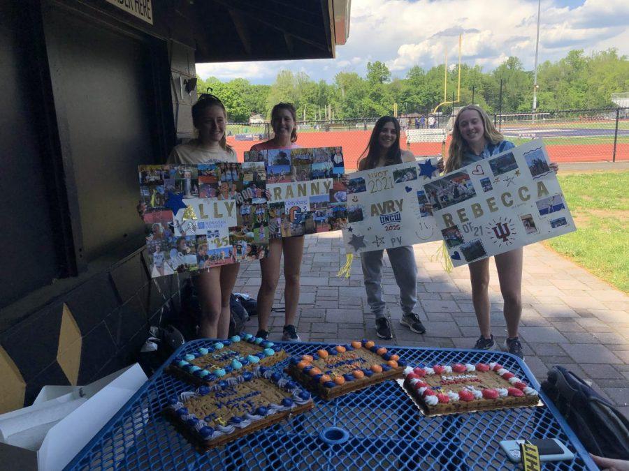 The seniors of the Girls Track team celebrating their last high school track season.