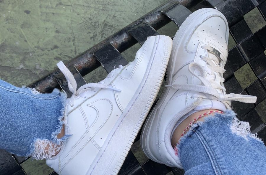 Although a closet staple, AF1s are worn out.